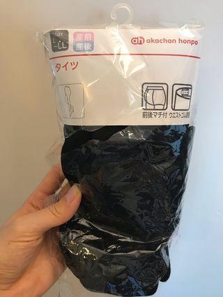 孕婦襪褲-黑色