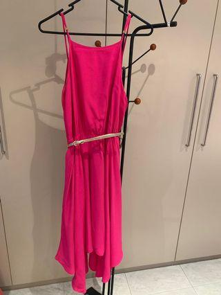 Forever new- pink midi dress- size 10