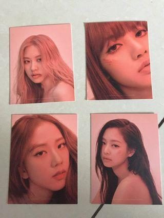 Blackpink kill this love photocards