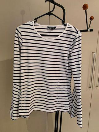 Portman's Striped Long sleeve shirt- size XS