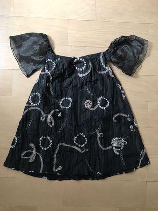 Minidress Etherial In Black Cute