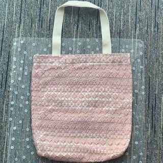 泰國直送 lace手挽袋-粉紅色
