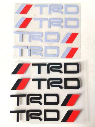 Toyota TRD Sticker