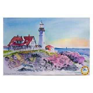Painting - Portland Head Lighthouse