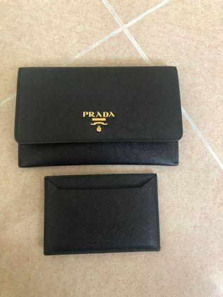 Prada wallet & card holder set