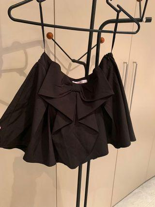 Cute black shorts with a bow- size 10