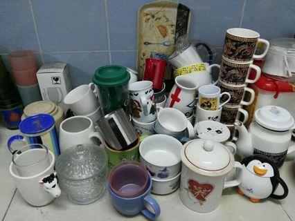 Assorted Mugs, Cups
