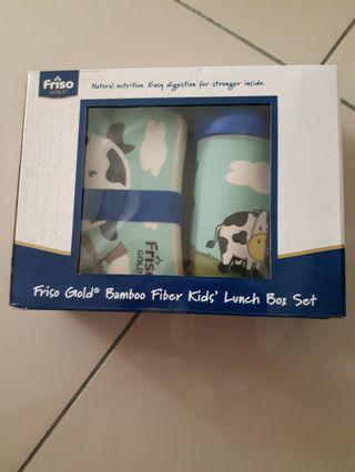 Friso Gold Bamboo Fiber kids lunch box set