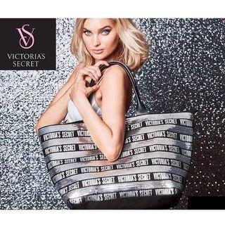 Victoria's Secret Silver Sequin Totebag