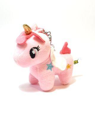 Unicorn Keychain Plush  - Pink