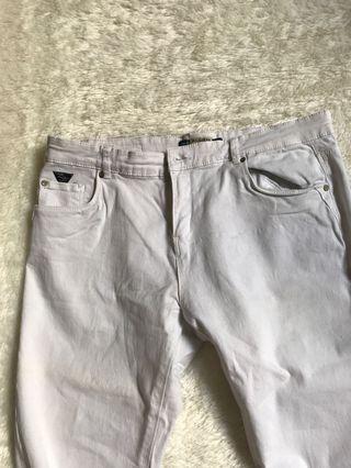 Pull&bear celana panjang putih skinny fit