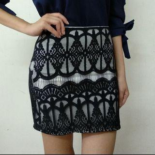Detailed lace skirt