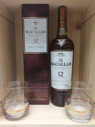 舊版Macallan 12 Sherry 加送 分酒斟及杯
