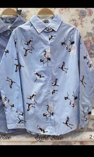 Kemeja Biru Birdy
