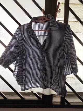 🚚 Blue straps button shirt