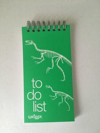 Green Smiggle To-do list Notebook