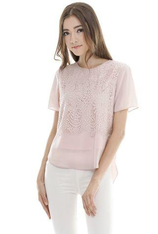 TCL Honey Lace Top in Dusty Pink