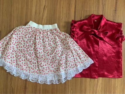 Sweet TOP and skirt set