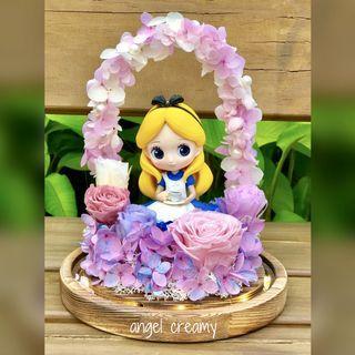 Alice 愛麗斯 拱橋 Tea 保鮮花擺設(有💡)