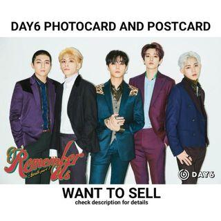 Day6 Photocard And Postcard