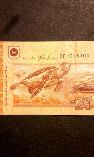 BF 101 5 100 RM 50 banknote number 1015100