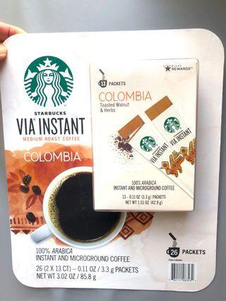 (現貨) 🇺🇸美國 Starbucks Via Instant Medium Roast Coffee Columbia 即沖咖啡粉