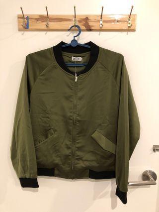 Khaki bomber jacket (includes shipping)