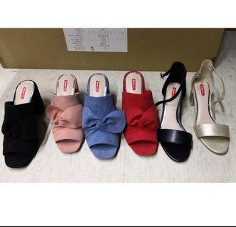 Brand New in Box Ladies open-toe high heel shoes / strap heels / black heels (BNIB) / size 8 and size 9