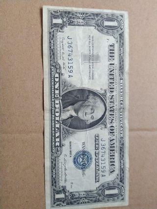 1957 silver certificate heavy circulate