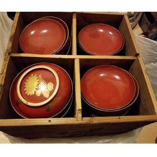 Japanese Urushi bowls from 1970s' HK$100 each