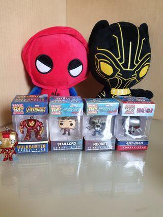 🚚 Marvel avengers character spiderman black panther ironman hulkbuster