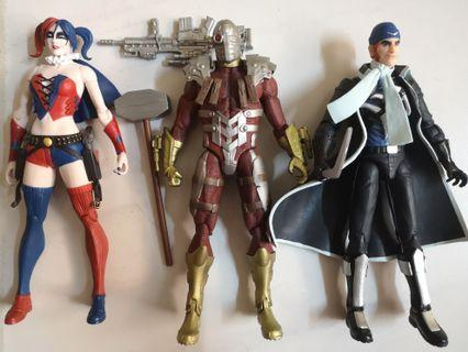 DC COLLECTIBLES THE NEW 52 SUICIDE SQUAD HARLEY QUINN, DEADSHOT & CAPTAIN BOOMERANG SET