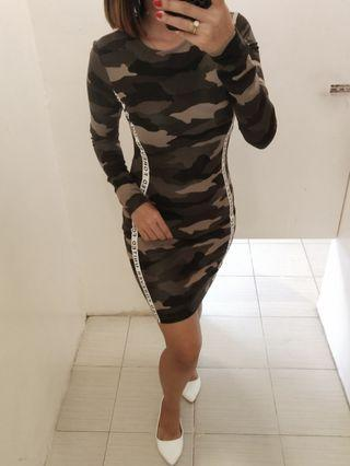 H&M divided camouflage dress
