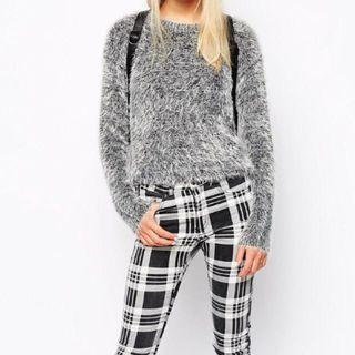 H&M Speckled Fluffy Knit Sweater