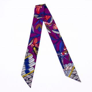 (NEW) HERMES 063224S TREE OF SONG TWILLY SILK SILK & SCARF