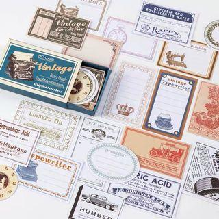 Vintage sticker box