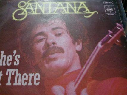 """Santana - She's not there 7"""" Inch Vinyl Single"""