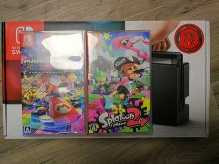 95%新 Nintendo Switch 連 MarioKart 8 及 Splatoon 2
