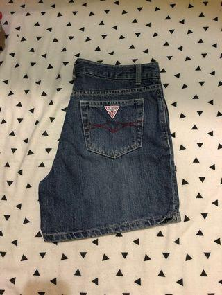 high waisted vintage guess short