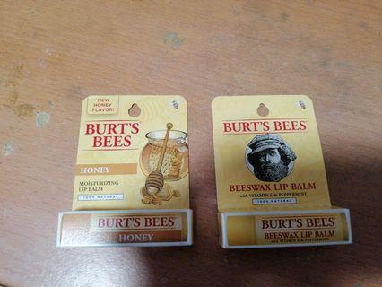 Burt's Bees 潤唇膏 蜂蜜味及蜜蠟味 各一支