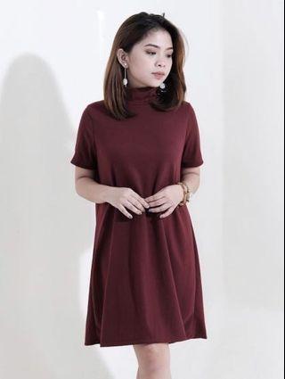 HTP Tneck Ribbed Dress