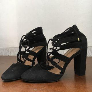 Ankle Gladiator Black - Christian Siriano