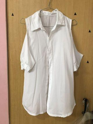 White Shirt Open Shoulder
