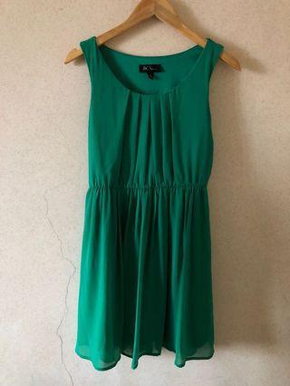 Formal Green Sleeveless Dress