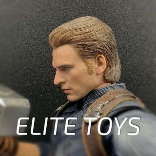 PO: Elite Toys 1/6 scale Male Head sculpt (Captain america Steve Rogers Not Hot Toys)