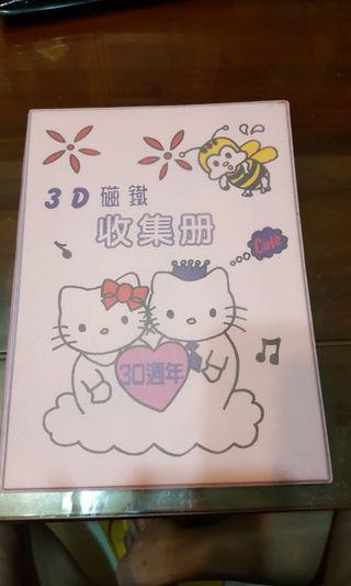 🚚 Hello  kitty 3D磁鐵收集冊