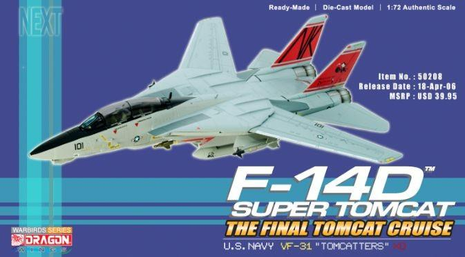 1:72 Dragon Wings VF-31 F-14D Final Tomcat Cruise