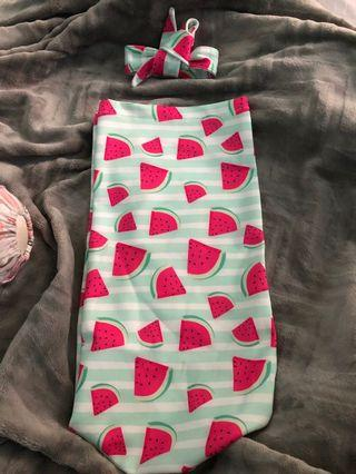 Girl cocoon swaddle / Bedong Instant bayi cewek