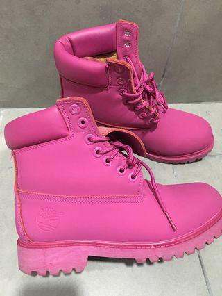 Timberland Water Proof Striking Pink Boots limited edition
