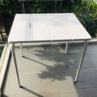Balcony table with one chair. Whatsapp if interested